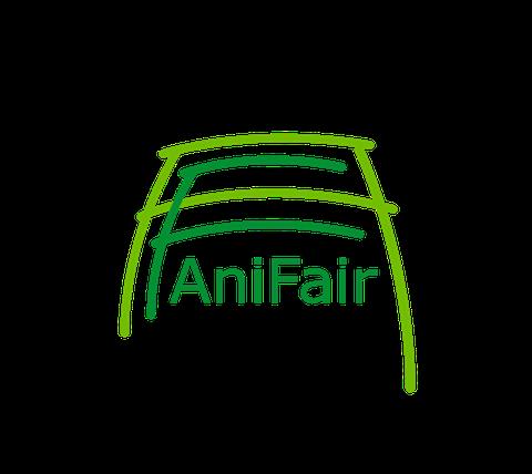 AniFair-Logo: AniFair in einem F in einem A